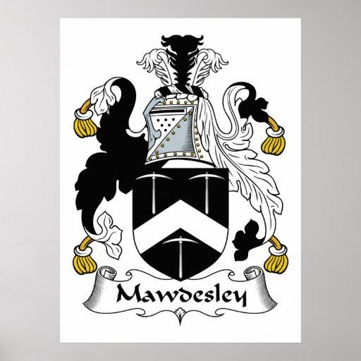 Escudo de la familia de Mawdesley Poster