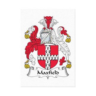 Escudo de la familia de Maxfield Impresiones En Lienzo Estiradas
