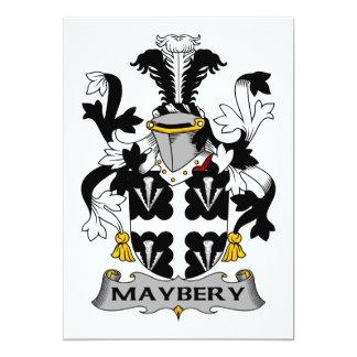 Escudo de la familia de Maybery Invitación 12,7 X 17,8 Cm