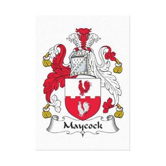 Escudo de la familia de Maycock Impresion De Lienzo