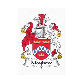 Escudo de la familia de Mayhew Impresión En Lona