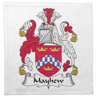 Escudo de la familia de Mayhew Servilletas Imprimidas