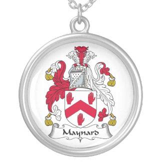 Escudo de la familia de Maynard Pendiente Personalizado