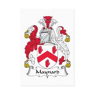 Escudo de la familia de Maynard Impresión De Lienzo