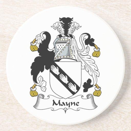 Escudo de la familia de Mayne Posavasos Diseño