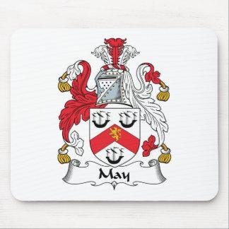 Escudo de la familia de mayo alfombrillas de ratón