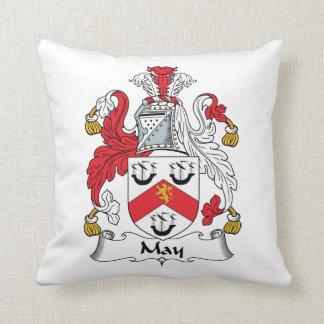 Escudo de la familia de mayo almohada
