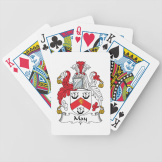 Escudo de la familia de mayo baraja cartas de poker