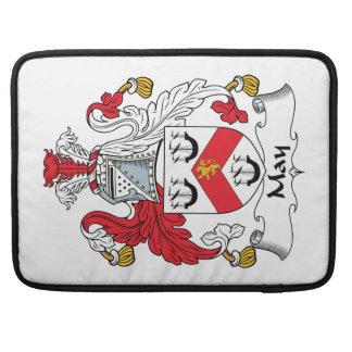Escudo de la familia de mayo funda para macbooks