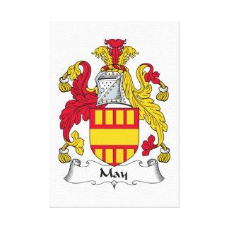 Escudo de la familia de mayo impresiones de lienzo