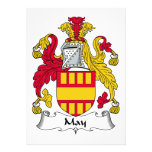 Escudo de la familia de mayo comunicado personalizado