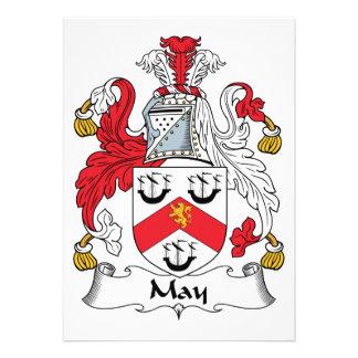 Escudo de la familia de mayo invitacion personal