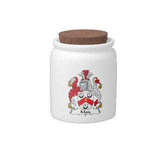 Escudo de la familia de mayo jarra para caramelo