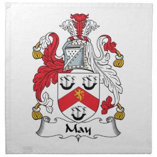 Escudo de la familia de mayo servilletas de papel