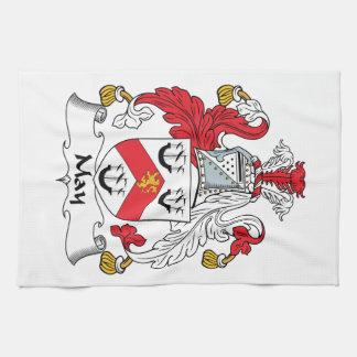 Escudo de la familia de mayo toalla de mano
