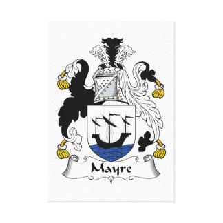 Escudo de la familia de Mayre Lona Estirada Galerias