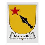 Escudo de la familia de Mazereller Poster