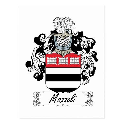 Escudo de la familia de Mazzoli Postal