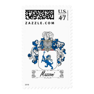 Escudo de la familia de Mazzoni Estampilla