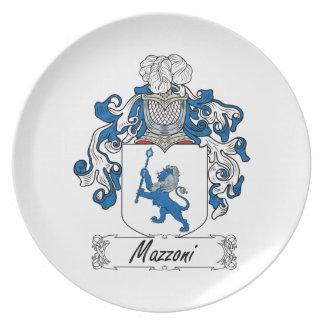 Escudo de la familia de Mazzoni Platos Para Fiestas