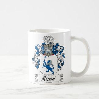 Escudo de la familia de Mazzoni Tazas De Café