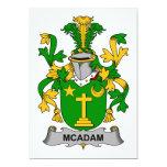 Escudo de la familia de McAdam Invitación 12,7 X 17,8 Cm