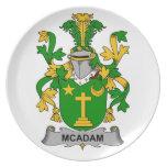 Escudo de la familia de McAdam Platos Para Fiestas