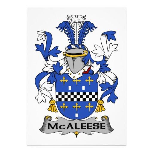 Escudo de la familia de McAleese Anuncios