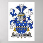 Escudo de la familia de McAleese Poster
