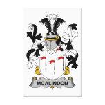 Escudo de la familia de McAlindon Lona Estirada Galerías