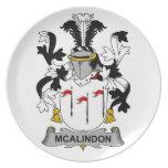 Escudo de la familia de McAlindon Plato De Cena