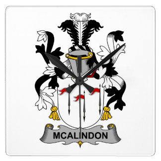 Escudo de la familia de McAlindon Reloj Cuadrado