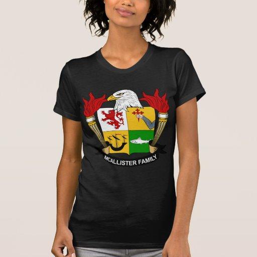 Escudo de la familia de McAllister T Shirt
