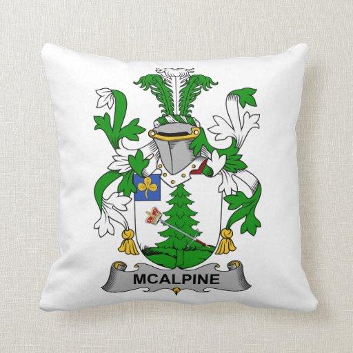 Escudo de la familia de McAlpine Almohada