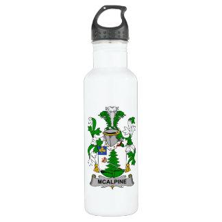 Escudo de la familia de McAlpine Botella De Agua