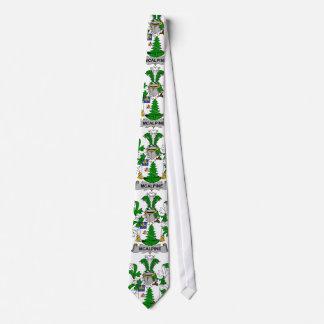 Escudo de la familia de McAlpine Corbatas Personalizadas