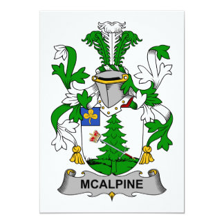 Escudo de la familia de McAlpine Invitación 12,7 X 17,8 Cm