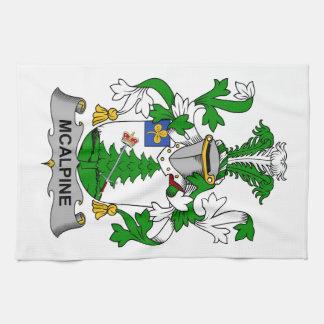 Escudo de la familia de McAlpine Toalla De Cocina