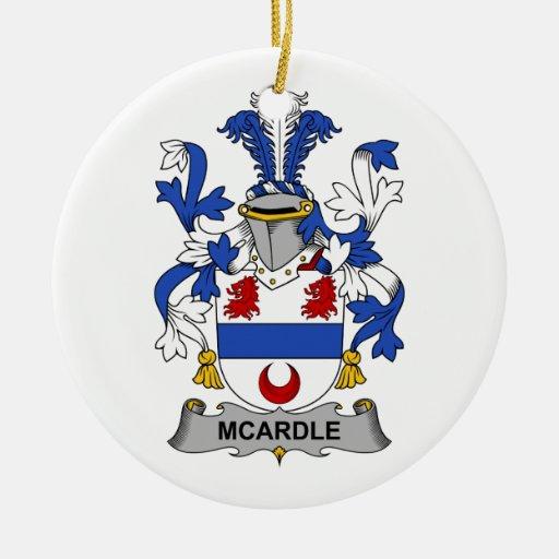 Escudo de la familia de McArdle Adorno Navideño Redondo De Cerámica