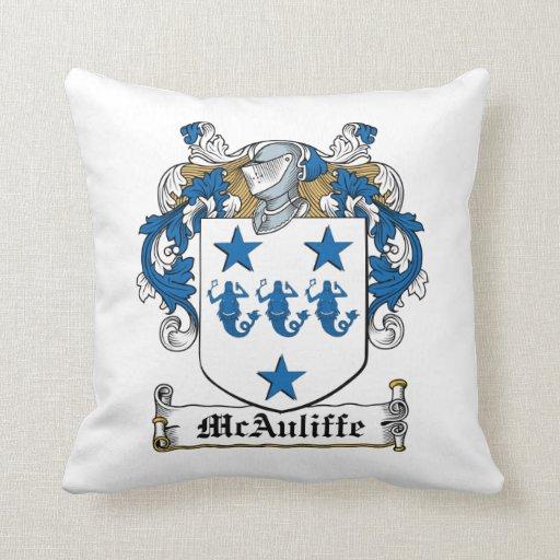 Escudo de la familia de McAuliffe Almohada