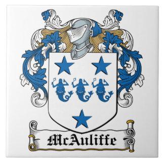 Escudo de la familia de McAuliffe Azulejo Cuadrado Grande