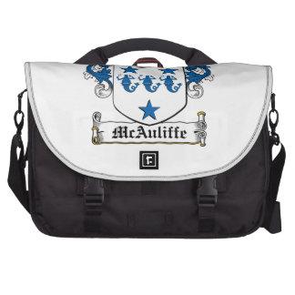 Escudo de la familia de McAuliffe Bolsas De Portatil