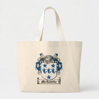 Escudo de la familia de McAuliffe Bolsa Tela Grande
