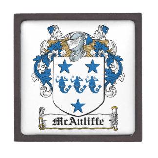 Escudo de la familia de McAuliffe Caja De Joyas De Calidad