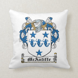 Escudo de la familia de McAuliffe Cojín
