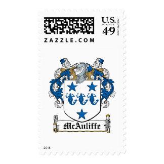 Escudo de la familia de McAuliffe Franqueo