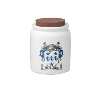 Escudo de la familia de McAuliffe Platos Para Caramelos