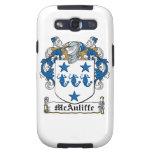 Escudo de la familia de McAuliffe Galaxy SIII Cárcasas