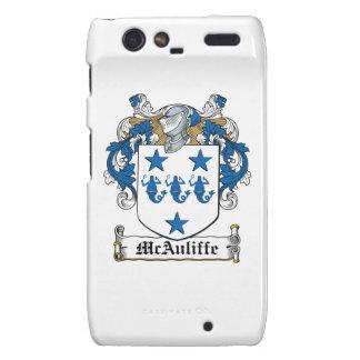 Escudo de la familia de McAuliffe Motorola Droid RAZR Funda