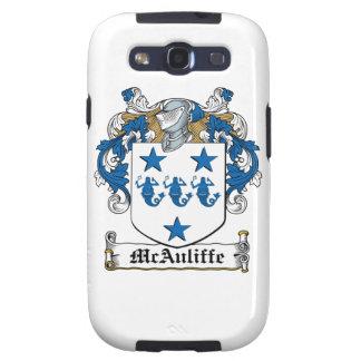 Escudo de la familia de McAuliffe Galaxy S3 Fundas